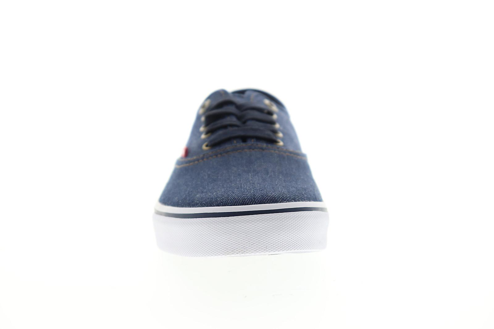 Levis Monterey denim heren blauw canvas lage top sneakers schoenen UmAstB