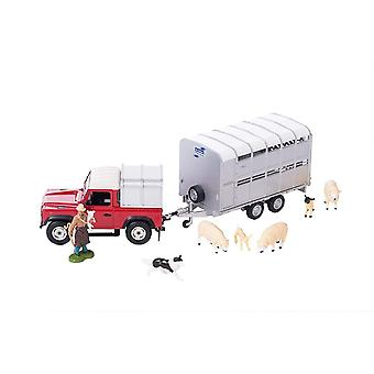 Britains Sheep Farmer Set Land Rover & Trailer 43138A1