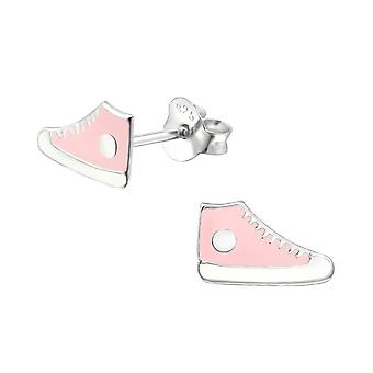 Trainers - 925 Sterling Silver Colourful Ear Studs - W19918X