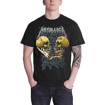 Logotipo de banda Metallica T camisa triste mas verdadeiro Black Album oficial Mens novo preto