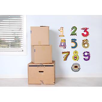 Full Colour Monster Numbers Wall Stickers