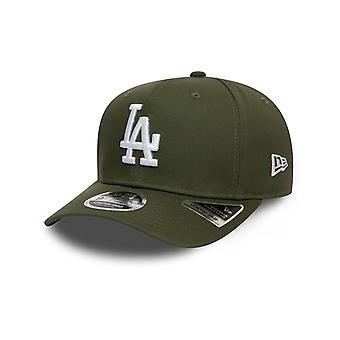 New Era Total Stretch Snap 9FIFTY Cap in New Olive/White