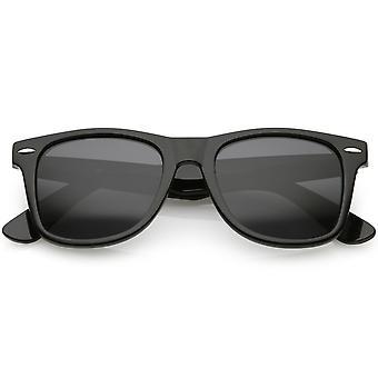 Classic Horn Rimmed Sunglasses Neutral Color Polarized Lens 52mm