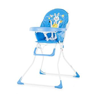 Chipolino high chair teddy foldable, large table, adjustable base, strap