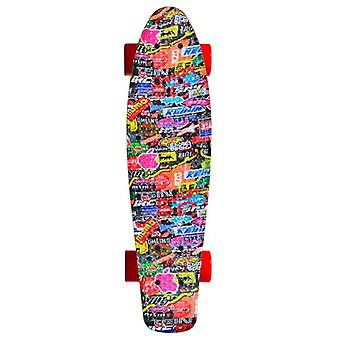 Kids Skateboard Hipster 22-quot;, Kicktail Deck, ABEC 7 Roulements, 80A Roues