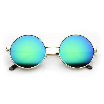 Kierroksen suuri Lennon tyyli Flash peili festivaali aurinkolasit