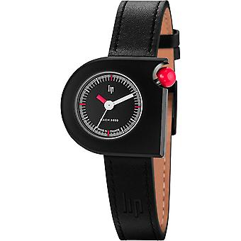 Lip MACH 2000 671096 - watch black leather woman