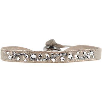 Les Interchangeables A28994 armbånd - Beige Krystaller Høj kvalitet Kvinders Armbånd