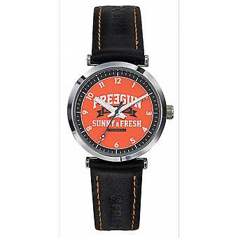 Watch child Freegun EE5236 - Gar we black dial Orange Leather