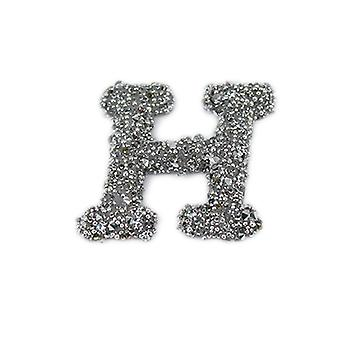 Glitter Alphabet Sticker - H