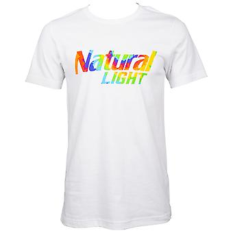Natural Light Beer Tie Dye Logo White T-Shirt