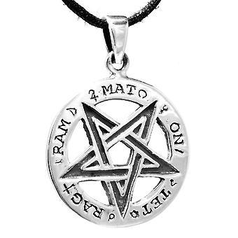 Hanger 136 pentagram-zilver