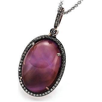 قلادة الأحجار الكريمة الماس - 18K 750 الذهب الأحمر - 0.43 قيراط. - 17.87 قيراط.