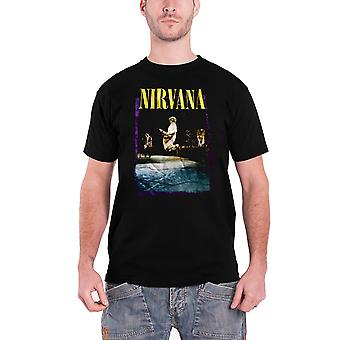 Nirvana T Shirt Stage Jump band logo new Official Mens Black