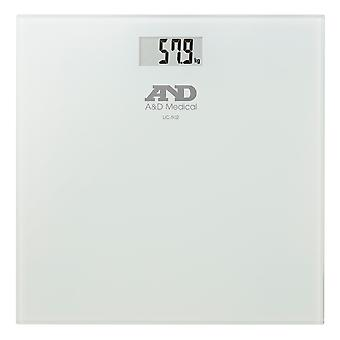 A&D UC502 Precision Health Weighing Scale With Glass Plate - Max Weight 180kg