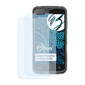 Bruni 2x Screen Protector compatible with Unitech EA600 Protective Film