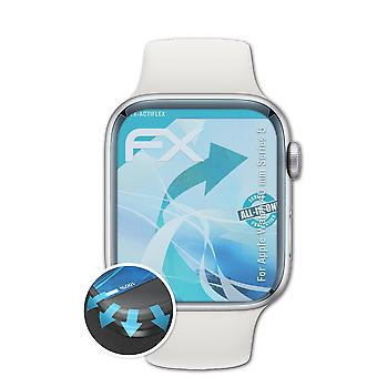 atFoliX 3x Protective Film compatibil cu Apple Watch 40 mm Series 5 clar&flexibil
