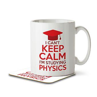 I Can't Keep Calm I'm Studying Physics - Mug and Coaster