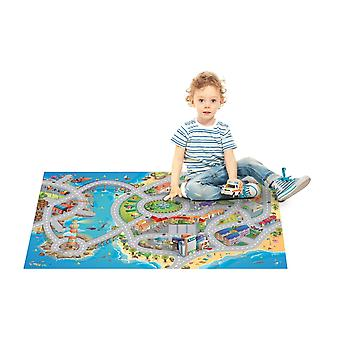 Achoka Seaside Road Grip Playmat 75 x 112cm For Toddlers