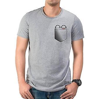 Men's Harry Potter lasit tasku harmaa t-paita