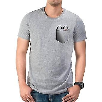Men's Harry Potter Glasses Pocket Grey T-Shirt