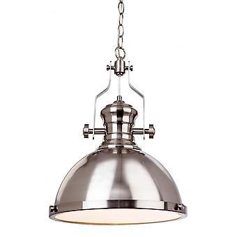 Firstlight Bistro Modern Industrial Brushed Steel Hanging Pendant Light