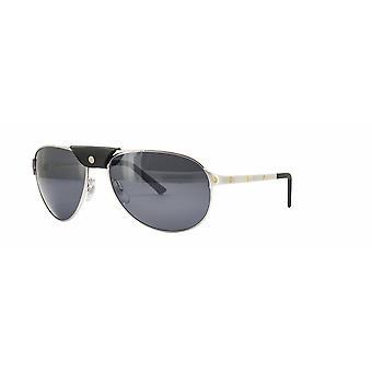 Cartier Santos Dumont CT0074S 004 Silver/Grey Sunglasses