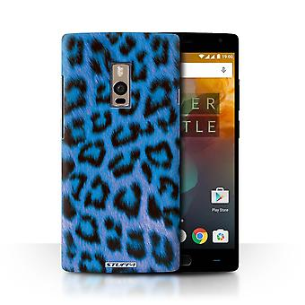 STUFF4 Case/Cover for OnePlus 2/Two/Blue/Leopard Animal Skin/Print