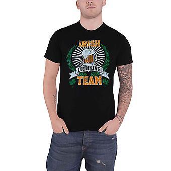 Mens St Patricks Day T Shirt Irish Drinking Machine Team New Black