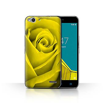 STUFF4 Case/Cover for Vodafone Smart Ultra 6/Yellow/Rose