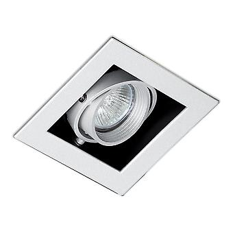 Faro Falcon-1 - Grey Square Recessed Downlight GU10 50W - FARO3020403