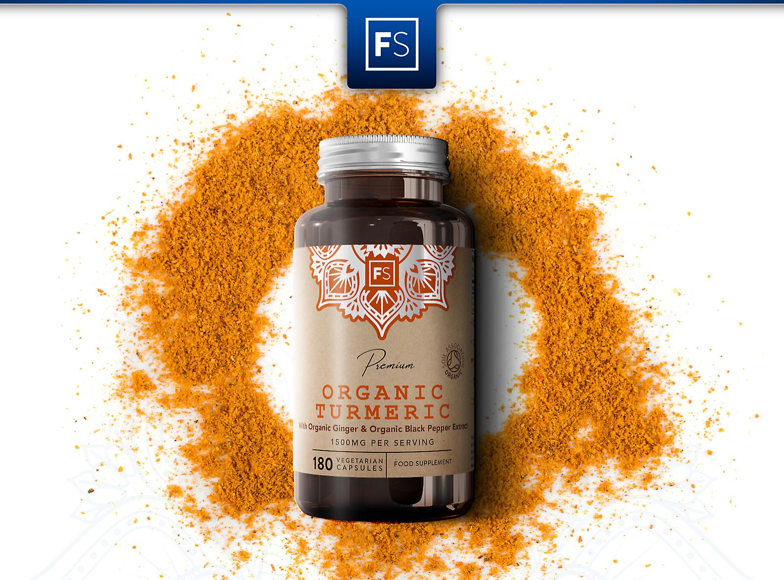 Focus Supplements Turmeric, Ginger & Black Pepper (1500mg) Capsules