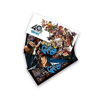 NeoGeo mini oficjalne naklejki postaci konsoli