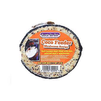 Suet to go half filled mealworm recipe coco feeder