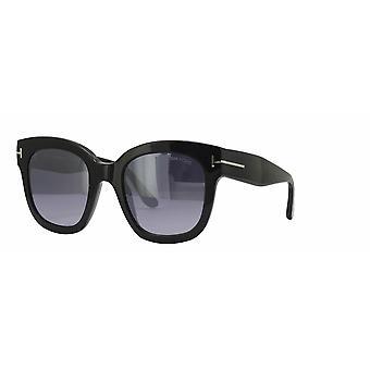 Tom Ford Beatrix-02 TF613 01C Shiny Black/Smoke Mirror Sunglasses