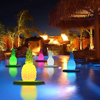 Modern Home Deluxe Floating LED Glowing Pineapple w/Infrared Remote Control - Pool/Pond Light Show Luminary