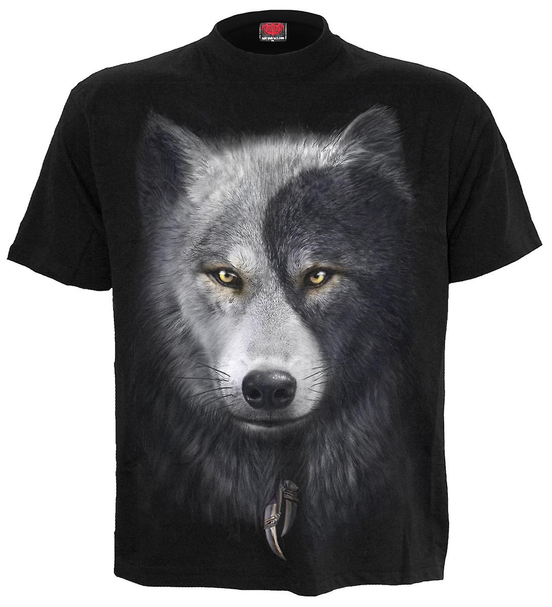 Spiral Direct Gothic WOLF CHI - T-Shirt Black Plus Size|Wolf|Yin Yang|Native American|Mystical