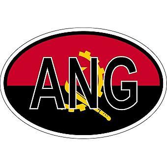 ملصقا بيضاوي االبيضاوي العلم رمز البلد ANG أنغولا