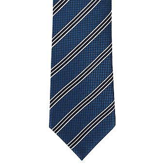Michelsons van London College Stripe zijden stropdas - groenblauw
