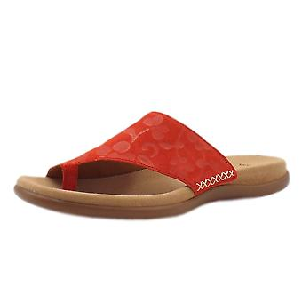 Gabor Lanzarote Comfortable Sandal Mules In Red