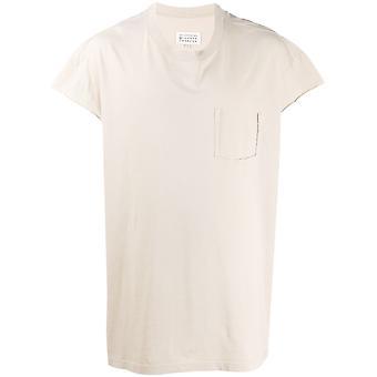 Maison Margiela Ezcr029003 Men's Bege Cotton T-shirt