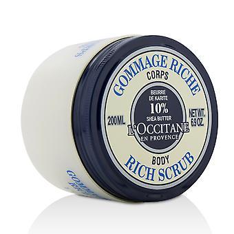 Shea butter rich body scrub 200ml/6.9oz