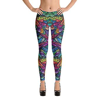 Fashion Leggings | Fancy | Colorful Feathers