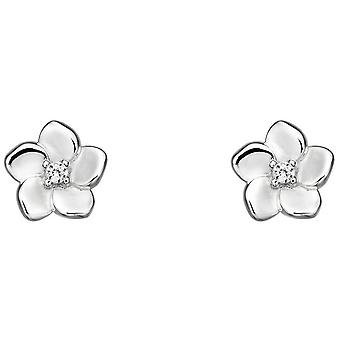 Elements Silver Cherry Blossom Earrings - Silver