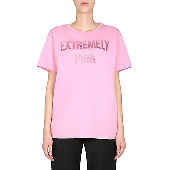Red Valentino Ur3mg06z5b638u Women's Pink Cotton T-shirt