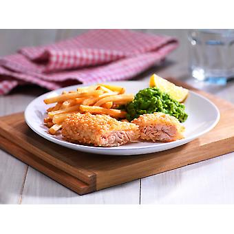 Crown Frozen MSC Gluten Free Bubble Crumb Salmon Fillets 60g