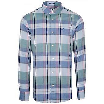 GANT Hamptons Blå Oxford långärmad skjorta