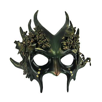 Green Forest Gremlin Adulte Wicked Woodland Goblin Masque costume d'Halloween