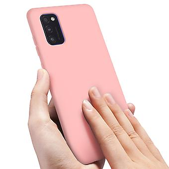 Back cover Samsung Galaxy A41 Semi-Rigid Silicone Soft-Touch Finish Pink