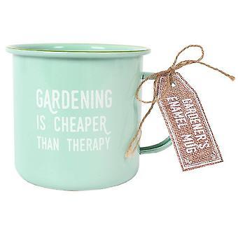 Something Different Gardening Therapy Enamel Mug